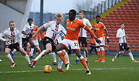 Blackpool's Joe Dodoo and Charlton Athletic's George Lapslie <br /> <br /> Photographer Stephen White/CameraSport<br /> <br /> The EFL Sky Bet League One - Blackpool v Charlton Athletic - Saturday 8th December 2018 - Bloomfield Road - Blackpool<br /> <br /> World Copyright &copy; 2018 CameraSport. All rights reserved. 43 Linden Ave. Countesthorpe. Leicester. England. LE8 5PG - Tel: +44 (0) 116 277 4147 - admin@camerasport.com - www.camerasport.com
