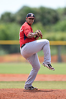 Boston Red Sox minor league pitcher Dedgar Jimenez (81) during an extended spring training game against the Tampa Bay Rays on April 16, 2014 at Charlotte Sports Park in Port Charlotte, Florida.  (Mike Janes/Four Seam Images)