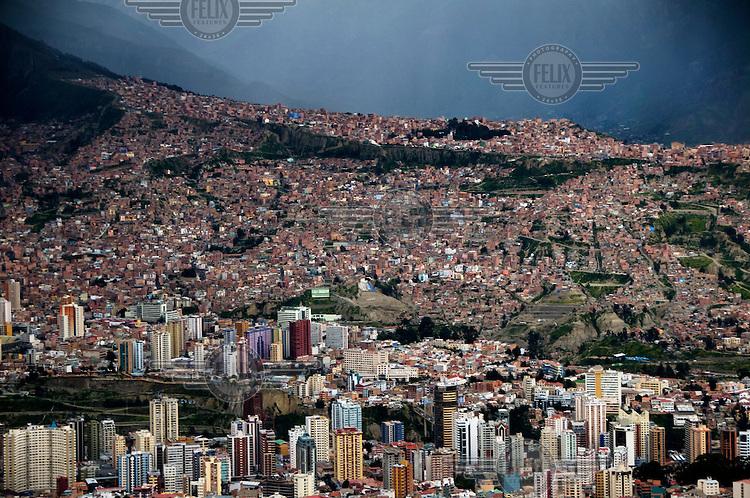The city of La Paz.