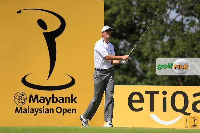 David Howell (ENG) on the 14th tee during Round 1 of the Maybank Malaysian Open at the Kuala Lumpur Golf &amp; Country Club on Thursday 5th February 2015.<br /> Picture:  Thos Caffrey / www.golffile.ie