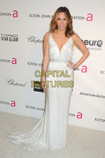 Keltie Colleen.21st Annual Elton John Academy Awards Viewing Party held at West Hollywood Park, West Hollywood, California, USA..February 24th, 2013.oscars full length white sleeveless sparkly dress hand on hip.CAP/ADM/BP.©Byron Purvis/AdMedia/Capital Pictures.