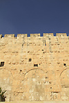 Jerusalem, the eastern Hulda Gates at the soutern wall of Temple Mount, built in the Second Temple period, a view from the Jerusalem Archaeological Park