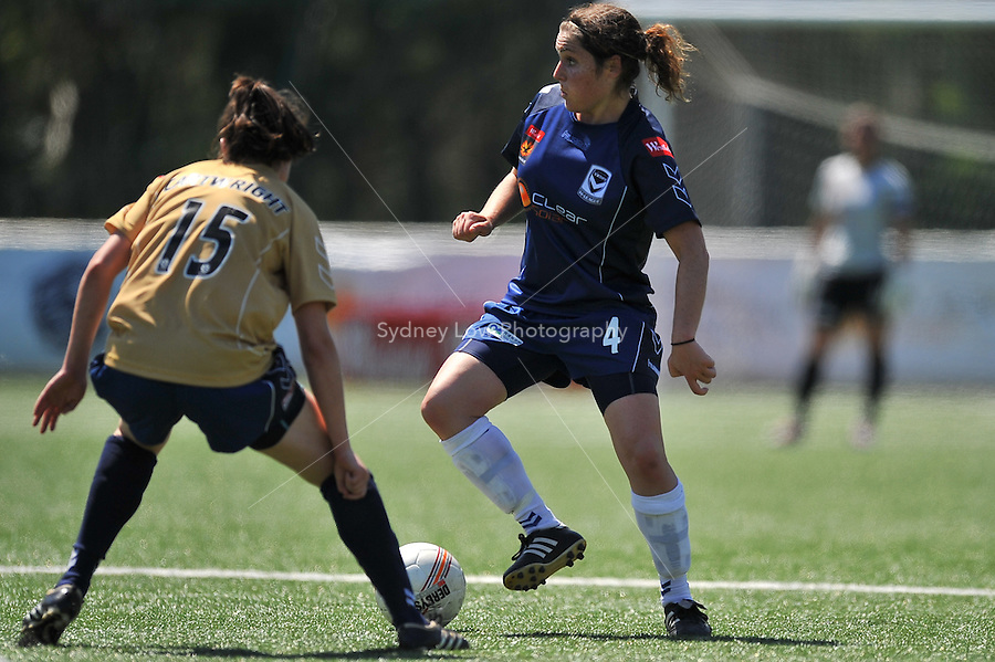 MELBOURNE, AUSTRALIA - OCTOBER 31: Tal KARP from Melbourne Victory kicks the ball in round 5 of the Westfield W-league match between Melbourne Victory and Newcastle Jets at the Veneto Club on October 31, 2009 in Melbourne, Australia. Photo Sydney Low www.syd-low.com