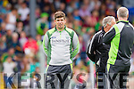 manager Eamonn Fitzmaurice Kerry in action against Clare in the Munster Senior Football Championship at Fitzgerald Stadium in Killarney on Sunday.