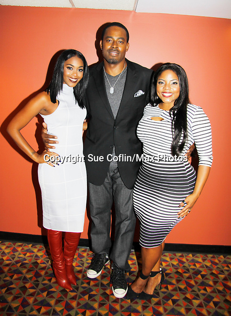 As The World Turns' & AMC actor Lamman Rucker stars with One Life to Live and B/B Nafessa Williams and Brely Williams in The Man in 3B with its premier on September 25, 2015 at the 19th Annual Urbanworld Film Festival in New York City, New York and opens nationwide on November 6, 2015. (Photo by Sue Coflin/Max Photos)