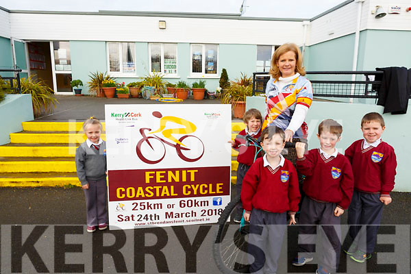 St Brendan's NS Fenit launched their Fenit Coastal Cycle at the school on Tuesday morning last, with the Principal Aisling O'Sullivan getting a helping hand from junior infants Katie Anna O'Connor, Shane Collins, Charlie O'Connell, Eoghan Farley and Tadgh Honeyman.