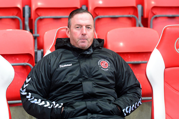 Fleetwood Town Coach Steve Eyre looks on<br /> <br /> Photographer Richard Martin-Roberts/CameraSport<br /> <br /> The EFL Sky Bet League One - Saturday 15th December 2018 - Fleetwood Town v Burton Albion - Highbury Stadium - Fleetwood<br /> <br /> World Copyright © 2018 CameraSport. All rights reserved. 43 Linden Ave. Countesthorpe. Leicester. England. LE8 5PG - Tel: +44 (0) 116 277 4147 - admin@camerasport.com - www.camerasport.com