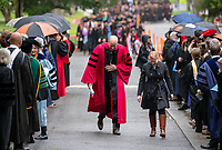 President Jonathan Veitch<br /> Families, friends, faculty, staff and distinguished guests celebrate the class of 2019 during Occidental College's 137th Commencement ceremony on Sunday, May 19, 2019 in the Remsen Bird Hillside Theater.<br /> (Photo by Marc Campos, Occidental College Photographer)