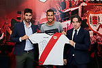 Alex Alegria during his Official presentation as new player of Rayo Vallecano at Ciudad Deportiva Rayo Vallecano in Madrid, Spain. September 11, 2018. (ALTERPHOTOS/A. Perez Meca)