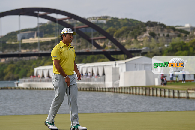 Hideki Matsuyama (JPN) looks over his putt on 13 during day 2 of the WGC Dell Match Play, at the Austin Country Club, Austin, Texas, USA. 3/28/2019.<br /> Picture: Golffile | Ken Murray<br /> <br /> <br /> All photo usage must carry mandatory copyright credit (© Golffile | Ken Murray)