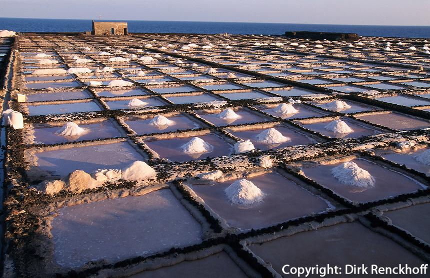 Spanien, Kanarische Inseln, Lanzarote, Los Cocoteros, Saline zur Meersalzgewinnung