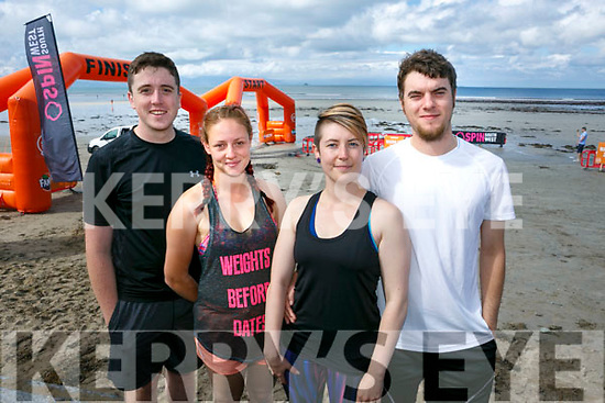 At the start of the 5km Sandstorm challenge last Saturday on Ballyheigue beach were Tim Nevin, Clodagh Stapleton, Lynn O'Doherty, Sean O'Halloran