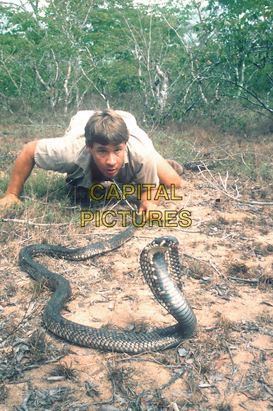 THE CROCODILE HUNTER: AFRICA'S DEADLIEST SNAKES .Pictured: Steve Irwin with an Egyptian Cobra .Filmstill - Editorial Use Only.Ref: FB.sales@capitalpictures.com.www.capitalpictures.com.Supplied by Capital Pictures.