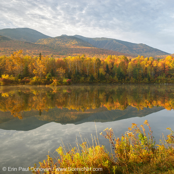 This is the image for October in the 2017 White Mountains New Hampshire calendar. Northern Presidential Range from Durand Lake in Randolph. The calendar can be purchased here: http://bit.ly/220sKru