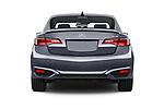 Straight rear view of 2018 Acura ilx Tech Plus A Spec 4 Door Sedan stock images