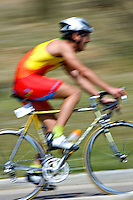 30 MAY 2009 - MADRID,ESP - Eduardo Fernandez Delgado - Spanish Triathlon Championships (PHOTO (C) NIGEL FARROW)