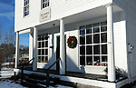 Christmas Wreath Decorating the Methodist Chapel in the Village of Marlow, New Hampshire