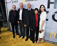 "09 May 2019 - Beverly Hills, California - Liam Cunningham, Noah Emmerich, Lt. Col. Jerry Jaax, Lt. Col. Nancy Jaax and Julianna Margulies. National Geographic Screening of ""The Hot Zone"" held at Samuel Goldwyn Theater. Photo Credit: Billy Bennight/AdMedia"