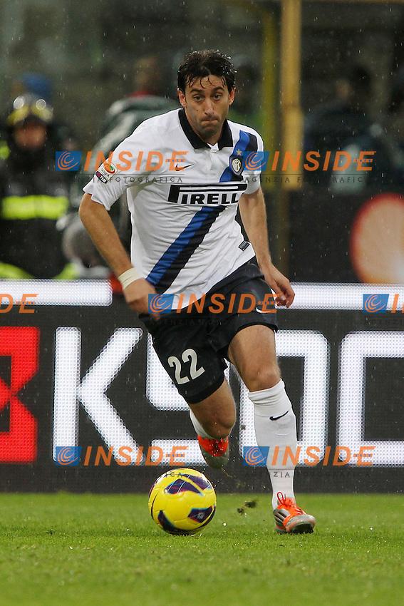 "Diego Milito Inter.Bologna 28/10/2012 Stadio ""Dallara"".Football Calcio Serie A 2012/13.Bologna v Inter.Foto Insidefoto Paolo Nucci."