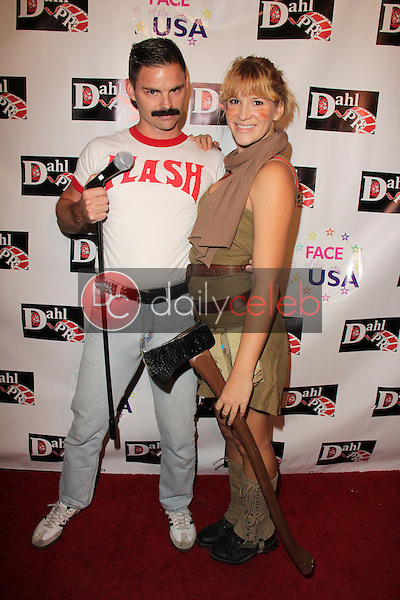 Paul Porter, Hayley Derryberry<br /> at the Monster Man Costume Ball, Cabo Wabo, Hollywood, CA 10-16-13<br /> David Edwards/Dailyceleb.com 818-249-4998