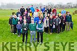 Lisa Kerfoot lady Captain, Sean moynihan Captain and Donue Mulcahy President teed off the new season at their Captains drive in Ross Golf club Sunday morning