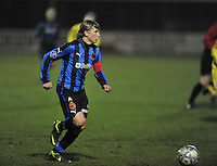 Club Brugge Dames - WB Sinaai Girls : Angelique De Wulf.foto DAVID CATRY / Vrouwenteam.be