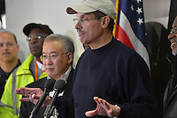 October 30, 2012  (Washington, DC)  D.C. Mayor Vincent Gray holds news conference with city officials after he toured the aftermath of Superstorm Sandy.  (Photo by Don Baxter/Media Images International)