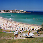 Bondi Beach on a sunny Sunday afternoon, Sydney, NSW, Australia