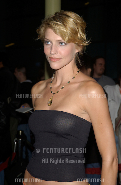 Actress TRICIA HELFER at the world premiere of Shade, in Hollywood..April 6, 2004