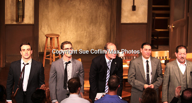"Guiding Light and Another World's John Bolger ""Philip Spaulding at the curtain call of Twelve Angry Men on opening night, March 16, 2012 at the George Street Playhouse, New Brunswick, NJ.  (Photo by Sue Coflin/Max Photos)"