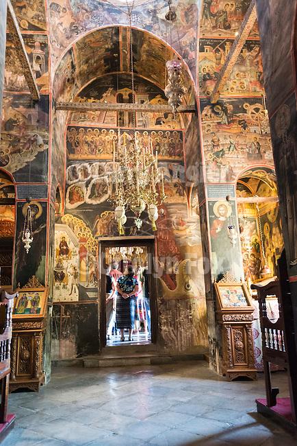 Interior of the  Varlaam Monastery, Meteora, Greece....XVI century, built 1541