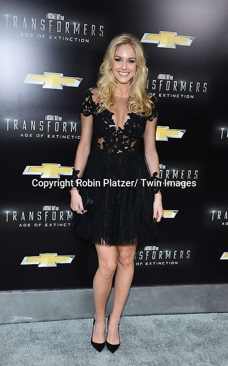 """Abigail Klein attends the US Premiere of """"Transformers: Age of Extinction"""" on June 25, 2014 at The Ziegfeld Theatre in New York City, New York, USA."""