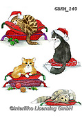 Kate, CHRISTMAS ANIMALS, WEIHNACHTEN TIERE, NAVIDAD ANIMALES, paintings+++++Christmas page 11,GBKM140,#xa#