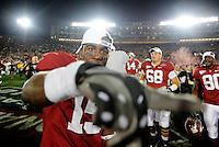 Jan 7, 2010; Pasadena, CA, USA; Alabama Crimson Tide wide receiver Darius Hanks against the Texas Longhorns during the 2010 BCS national championship game at the Rose Bowl. Alabama defeated Texas 37-21. Mandatory Credit: Mark J. Rebilas-