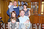 Proud parents Theresa and Michael Keane from Kilcoleman with baby Martha who was christened last Sunday, pictured here for family celebrations with siblings Sophie and Denis and godparents Jim Dowling and Mary Carthy.