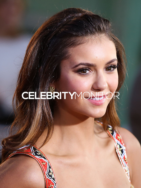 HOLLYWOOD, LOS ANGELES, CA, USA - AUGUST 07: Actress Nina Dobrev arrives at the Los Angeles Premiere Of 20th Century Fox's 'Let's Be Cops' held at ArcLight Cinemas Cinerama Dome on August 7, 2014 in Hollywood, Los Angeles, California, United States. (Photo by Xavier Collin/Celebrity Monitor)
