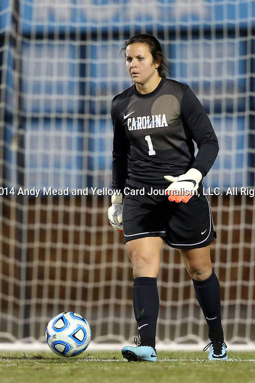 21 November 2014: North Carolina's Bryane Heaberlin. The University of North Carolina Tar Heels hosted the University of Colorado Buffaloes at Fetzer Field in Chapel Hill, NC in a 2014 NCAA Division I Women's Soccer Tournament Second Round match. UNC won the game 1-0 in overtime.
