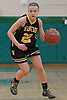 Julianna Kissane #22 of Wantagh dribbles downcourt during a non-league varsity girls basketball game against host Seaford High School on Friday, Dec. 29, 2017. Seaford won by a score of 65-56.