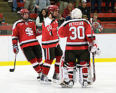Peter Child (St. Lawrence - 4), Matt Dyer (St. Lawrence - 20), Alex Petizian (St. Lawrence - 30) - The St. Lawrence University Saints defeated the Harvard University Crimson 3-2 on Friday, November 20, 2009, at the Bright Hockey Center in Cambridge, Massachusetts.