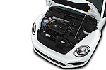 Car Stock 2017 Volkswagen Beetle S 3 Door Hatchback Engine  high angle detail view