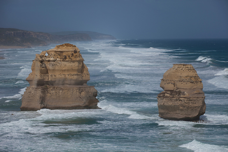 The 12 Apostle rock formations are the icons of the Great Ocean Road drive on the Victoria coastline