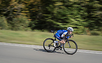 Petr Vakoc  (CZE/Quick-Step Floors) speeding ahead of the race<br /> <br /> Binche-Chimay-Binche 2017 (BEL) 197km<br /> 'Mémorial Frank Vandenbroucke'