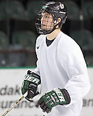 Zach Jones - The University of North Dakota Fighting Sioux took part in the morning skate on Saturday, December 10, 2005, at Ralph Engelstad Arena in Grand Forks, North Dakota.