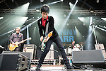 © Joel Goodman - 07973 332324 . 11/07/2015 . Manchester , UK . Johnny Marr performs . Summer in the City festival at Castlefield Arena . Photo credit : Joel Goodman