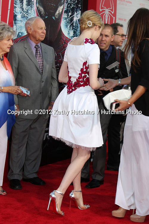 """LOS ANGELES - JUN 28:  Emma Stone arrives at the """"The Amazing Spider-Man"""" Premiere at Village Theater on June 28, 2012 in Westwood, CA"""