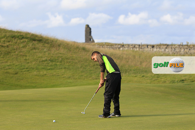 Paul Murphy (Rosslare) on the 16th green during Round 1 of the South of Ireland Amateur Open Championship at LaHinch Golf Club on Wednesday 22nd July 2015.<br /> Picture:  Golffile | Thos Caffrey