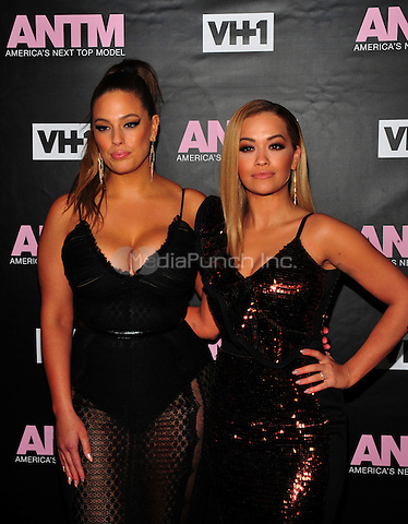 New York, NY: December 8: Ashley Graham, Rita Ora attends the VH1 America's Next Top Model premiere party at Vandal on December 8, 2016 in New York City.on December 7, 2016 in New York City.@John Palmer / Media Punch