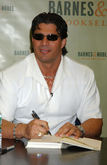 WWW.ACEPIXS.COM . . . . . ....NEW YORK, FEBRUARY 23, 2005....Jose Conseco at Barnes & Noble for a signing of his new book 'Juiced.'....Please byline: KRISTIN CALLAHAN - ACE PICTURES.. . . . . . ..Ace Pictures, Inc:  ..Philip Vaughan (646) 769-0430..e-mail: info@acepixs.com..web: http://www.acepixs.com