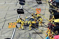July 16, 2017 - Loudon, New Hampshire, U.S. - Matt Kenseth, Monster Energy NASCAR Cup Series driver of the Dewalt Flexvolt Toyota (20),, makes a pit stop at  the NASCAR Monster Energy Overton's 301 race held at the New Hampshire Motor Speedway in Loudon, New Hampshire. Eric Canha/CSM
