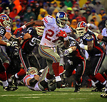 23 December 2007: New York Giants running back Brandon Jacobs (27) rushes for yardage against the Buffalo Bills at Ralph Wilson Stadium in Orchard Park, NY. The Giants defeated the Bills 38-21. ..Mandatory Photo Credit: Ed Wolfstein Photo
